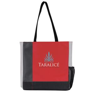 """Budget Atchison Tri-Tone Custom Logo Tote Bag - 14.5""""w x 15.5""""h x 2.5""""d At Low Offer"""