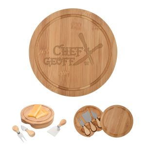 Order Bamboo 3-Piece Custom Cheese Server Gift Set Best Printing Company