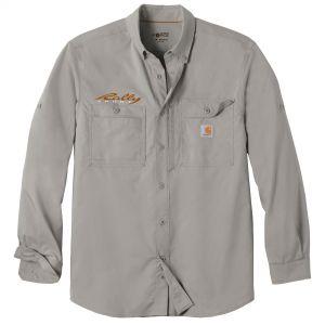 Personalised Carhartt Force Ridgefield Solid Custom Long Sleeve Shirt Print Factory