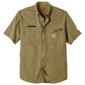 Cheap Print Carhartt Force Ridgefield Solid Custom Short Sleeve Shirt For Sale