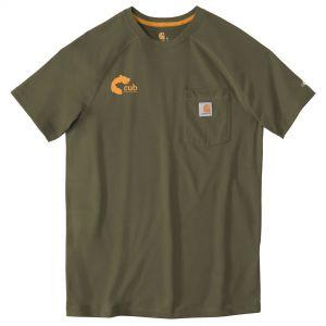 Wholesale Carhartt Force Cotton Delmont Custom Short Sleeve T-Shirt Printing Supplier