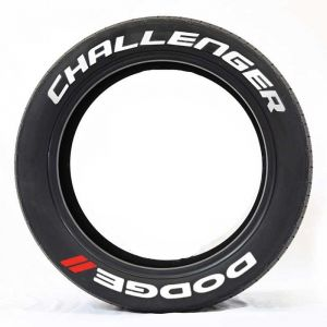 Challenger Tire Stickers | Car Tire Stickers