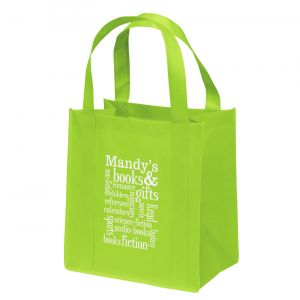 """Manufacture in Bulk Compact Non-Woven Promotional Shopper Tote Bag - 12""""w x 13""""h x 8""""d Made in China"""