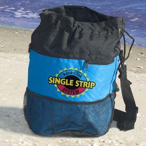 "Cheapest Custom Beach Bag w/ Mesh Bottom - 11""w x 17""h At Lowest Offer"