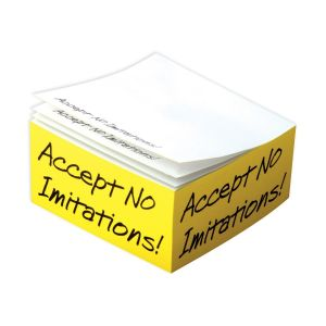 "Economical Produce Custom Post-it Notes Printed Half Cube - 4""w x 4""h x 2""d Best Print Supplier"