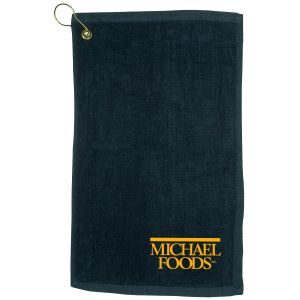 "Budget Dark Colored Fingertip Custom Golf Towel - 11"" x 18"" Top Printing Store"