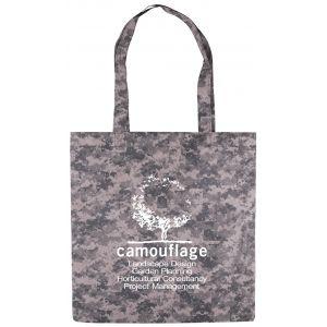 "Buy in Bulk Digital Camo Flat Non-Woven Custom Tote Bags - 13.5""w x 14.5""h Print Manufacturer"