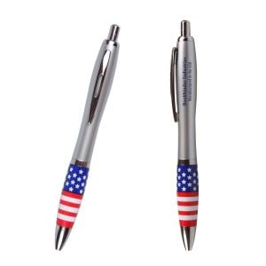Manufacture Emissary Click Promotional Pen - USA Theme Best Printing Factory