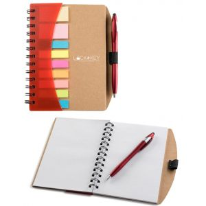 "Purchase in Bulk Executive Custom Notebooks w/ Sticky Notes & Flags - 6""w x 7""h Dependable Printing Company"