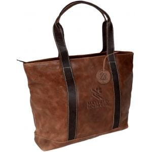 """Order Executive Two-Tone Leather Custom Tote Bags - 20""""w x 14.5""""h x 9""""d Printing Company"""