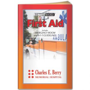 "Economical Manufacture First Aid Informational Guide - Promotional Book - 3.75""w x 6""h Top Print Manufacturer"