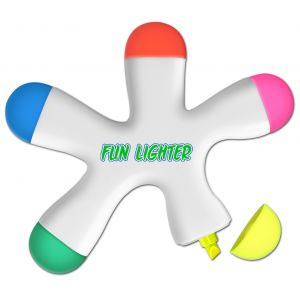 Order Five Color Flower Fun Promotional Highlighter Dependable Print Supplier