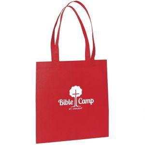 "Flat Non-Woven Custom Tote Bags - 13.5""w x 14.5""h"