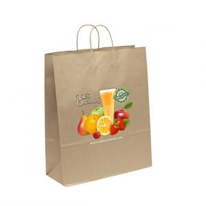 "Manufacture in Bulk Full Color Brown Kraft Custom Shopping Bag - 16""w x 19.25""h x 6""d Print Company"