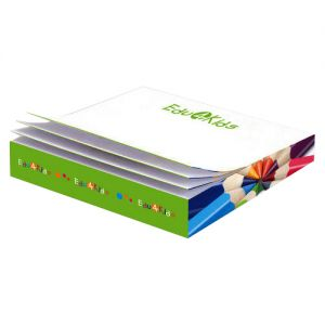 "Cheap Produce Full Color Custom Post-it Notes Slim Cube - 3.38"" x 3.38"" x .5"" Printing Supplier"