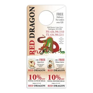 Lowest Price Full Color Cut Out Coupon Custom Door Hangers Best Print Manufacturer