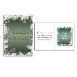 Manufacture in Bulk Full Color Holiday Greetings Logo Greeting Card w/ Magnetic Photo Frame At Special Offer