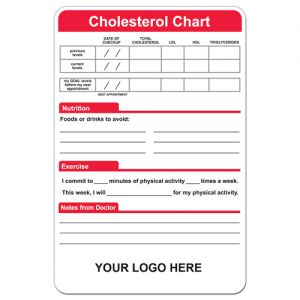 """Dependable Full Color Magnetic Custom Memo Board - Cholesterol Chart- 5.5"""" x 8.25"""" At Lowest Offer"""