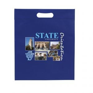 """Low Price Full Color Non-Woven Die-Cut Handle Custom Tote Bag - 13""""w x 15""""h x 3""""d On Sale"""