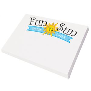 "Economical Print Full Color Post-it Notes Custom Notepad - 25 Sheets - 4""w x 3""h Online shop"