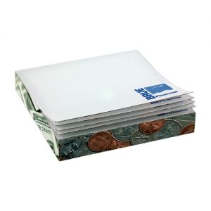 """Order Full Color Promotional Post-it Notes Slim Cube - 2.75"""" x 2.75"""" x .5"""" By High Quality Production"""
