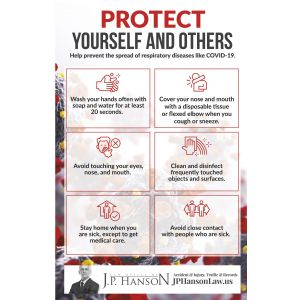 """Top Full Color Protect Yourself Promotional Poster - 11""""w x 17""""h Best Print Manufacturer"""