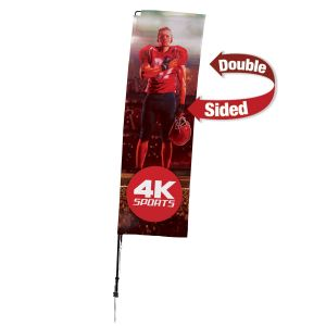 """Cheap Manufacture Full Color Retractable Double-Sided Custom Sail Sign Kit - 31.5""""w x 117""""h x 2""""d Print Store"""