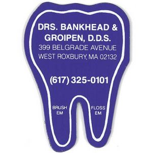 Top Print Full Color Specialty Tooth Shaped Promo Magnet - 20 mil Online shop