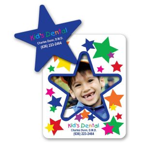 Economical Print Full Color Star Cut-Out Picture Frame Logo Magnet - 20 mil Top Printing Supplier