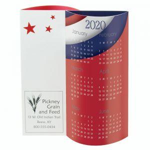 Economical Print Full Color Wave 3-D Custom Desk Calendar - USA Best Print Store