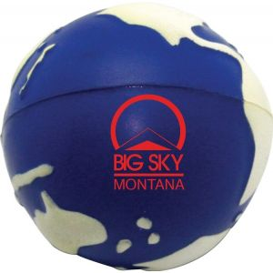 Personalised Glow in the Dark Earth Shaped Promotional Stress Ball Top Print Factory