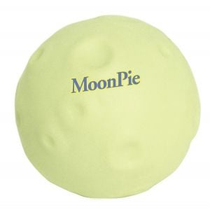 Manufacture in Bulk Glow in the Dark Moon Shaped Promotional Stress Ball Top Printing Factory