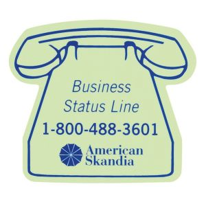 Lowest Price Glow-in-the-Dark Custom Magnet - Land Line Phone - 25 mil Dependable Printing Company