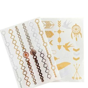 Gold Body Tattoo Stickers | Personalised Stick on Tattoos