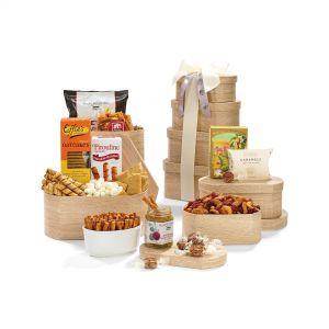 Gourmet Custom Food Gift Box Tower
