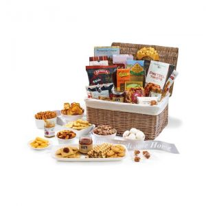 Economical Print Gourmet Delights Custom Basket Food Gift Set Dependable Printing Factory