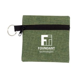 Manufacture in Bulk Heather Custom Travel Pouch w/ Key Ring Printing Store
