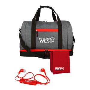 Lowest Price Heather Custom Duffle Bag Gym Gift Set Top Printing Factory