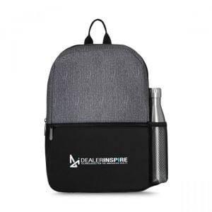 """Cheap Produce Heather Granite Custom Backpack - 10""""w x 15.75""""h x 4.75""""d Dependable Printing Factory"""