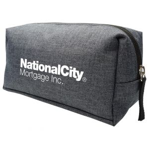 Top Print Heather Zippered Custom Travel Pouch Top Printing Supplier
