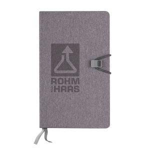 """Cheap Print Heathered Custom Journal w/ Lined & Graph Sheets - 5.75""""w x 8.25""""h Printing Manufacturer"""