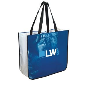 """Economical Laminated Non-Woven Custom Tote Bag 16.25""""w x 14.5""""h x 6.75""""d Printing Manufacturer"""