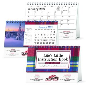 Budget Life's Little Instruction Book Custom Desk Calendar Best Printing Company