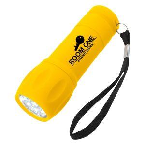 Dependable Mini Rubberized Custom Flashlight w/ Wrist Strap Printing Manufacturer