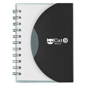 "Order Mini Spiral Lined Custom Notebook w/ Flap Closure - 3.25""w x 4.25""h Top Print Supplier"
