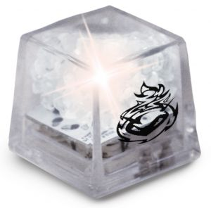 Order MiniGlow Light-Up Promotional Ice Cubes - Clear w/ White LED Printing Manufacturer