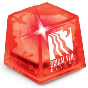 Order in Bulk MiniGlow Light-Up Promotional Ice Cubes - Red w/ Red LED Dependable Print Manufacturer