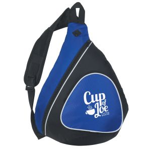 Manufacture Mono Strap Promotional Backpack w/ Outside Mesh Top Printing Supplier