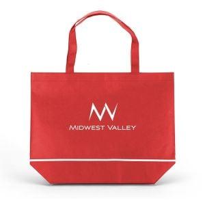 "Economical Non-Woven Custom Tote Bag w/ White Trim - 17.75""w x 14""h Printing Manufacturer"