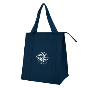 """Cheap Produce Non-Woven Dimpled Custom Tote Bag - 13""""w x 15.25""""h x 9.5""""d At Lowest Price"""